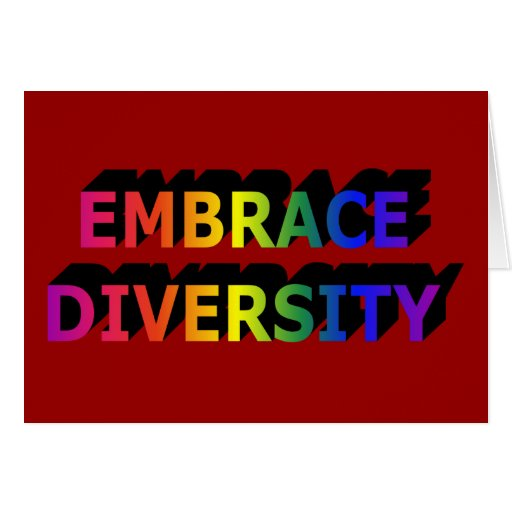 Embrace Diversity Notecard Greeting Cards