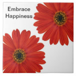 Embrace Happiness Daisies Tiles