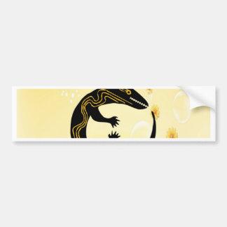 embrace happy peace joy Lizard Bumper Stickers