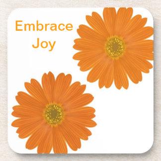Embrace Joy Daisies Drink Coaster