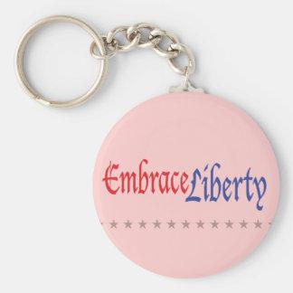 Embrace Liberty Basic Round Button Keychain