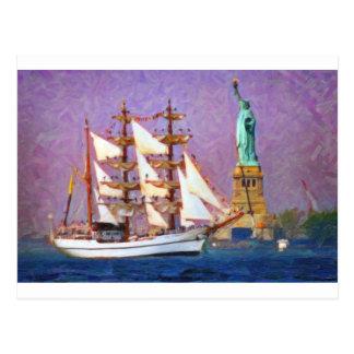Embrace Liberty oil Postcard