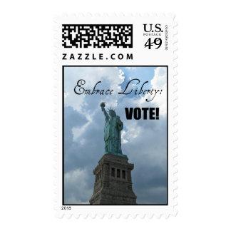 Embrace Liberty...VOTE! Stamp