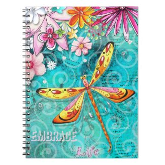 Embrace Life Dragonfly Notebook