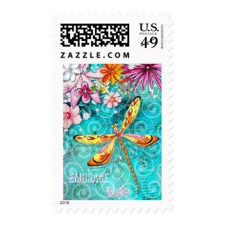Embrace Life Dragonfly Postage