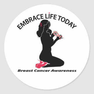 Embrace Life Today Classic Round Sticker