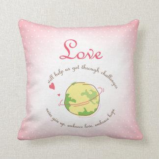 Embrace Love & Hope Throw Pillow