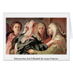 Embrace Mary And St.Elizabeth By Jacopo Pontormo Card