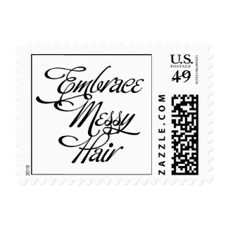 Embrace Messy Hair Postage Stamps