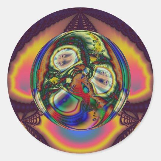 Embrace of Autumnal Equinox (Sticker) Classic Round Sticker