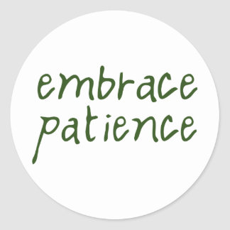 Embrace Patience Classic Round Sticker