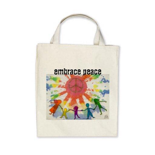 Embrace Peace Mixed Media Artwork Bag