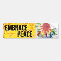 Embrace Peace Mixed Media Artwork Car Bumper Sticker