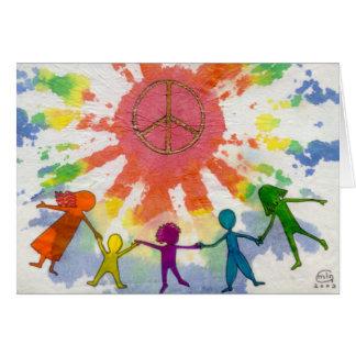 Embrace Peace Mixed Media Artwork Card