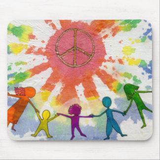 Embrace Peace Mixed Media Artwork Mouse Pad