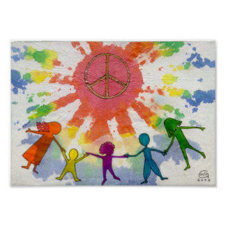 Embrace Peace Mixed Media Artwork Poster