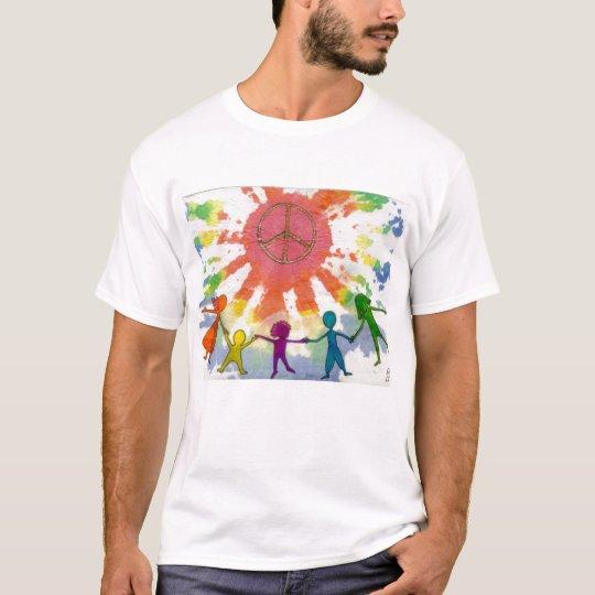 Embrace Peace Mixed Media Artwork T-Shirt