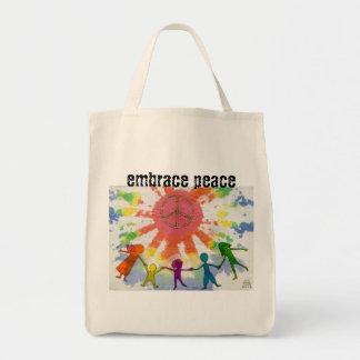 Embrace Peace Mixed Media Artwork Tote Bag