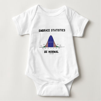 Embrace Statistics Be Normal (Bell Curve) Baby Bodysuit
