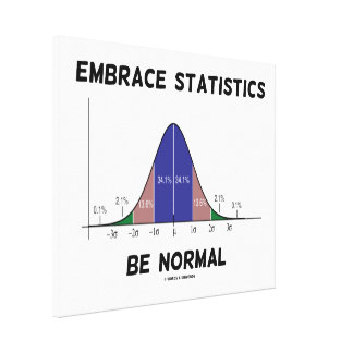 Embrace Statistics Be Normal (Bell Curve) Canvas Print