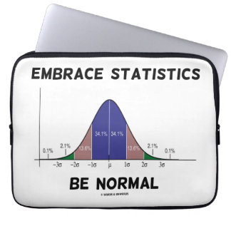 Embrace Statistics Be Normal (Bell Curve) Laptop Computer Sleeves