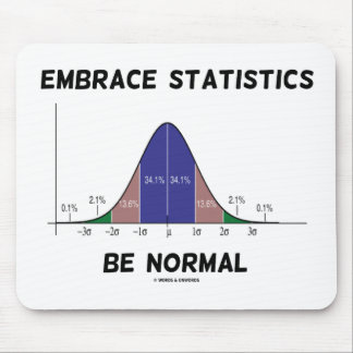 Embrace Statistics Be Normal (Bell Curve) Mouse Pad