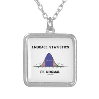 Embrace Statistics Be Normal (Bell Curve) Pendant