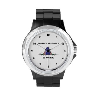 Embrace Statistics Be Normal (Bell Curve) Wrist Watches