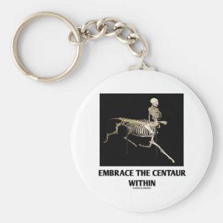 Embrace The Centaur Within Skeleton Keychain