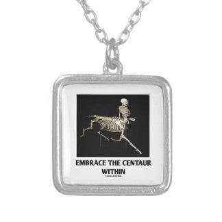Embrace The Centaur Within (Skeleton) Square Pendant Necklace