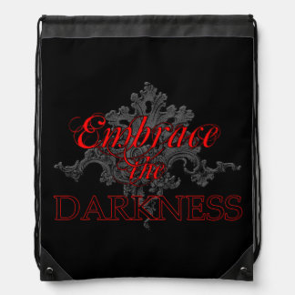Embrace the Darkness Drawstring Bag
