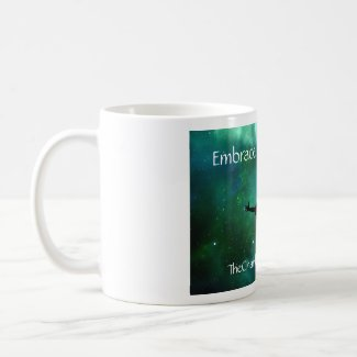 Embrace the darkness mug