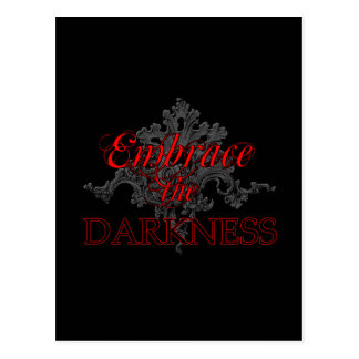 Embrace the Darkness Postcard
