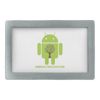 Embrace The Ecosystem (Android Bug Droid Oak Tree) Belt Buckle