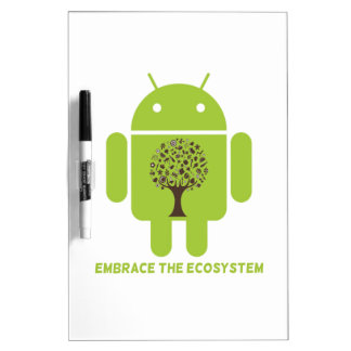 Embrace The Ecosystem (Android Bug Droid Oak Tree) Dry Erase Boards