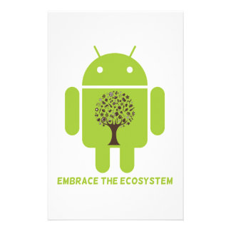 Embrace The Ecosystem (Android Bug Droid Oak Tree) Stationery