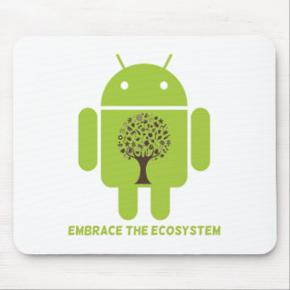 Embrace The Ecosystem (Bug Droid Brown Tree) Mousepad