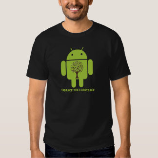 Embrace The Ecosystem (Bug Droid Brown Tree) Shirt