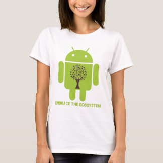 Embrace The Ecosystem (Bug Droid Brown Tree) T-Shirt