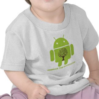 Embrace The Ecosystem (Bug Droid Brown Tree) Tshirt