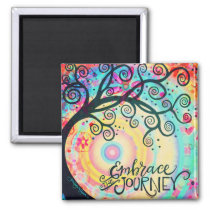Embrace the Journey inspirational Magnet