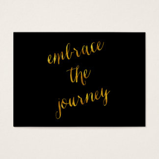 Embrace The Journey Quote Gold Faux Foil Courage Business Card