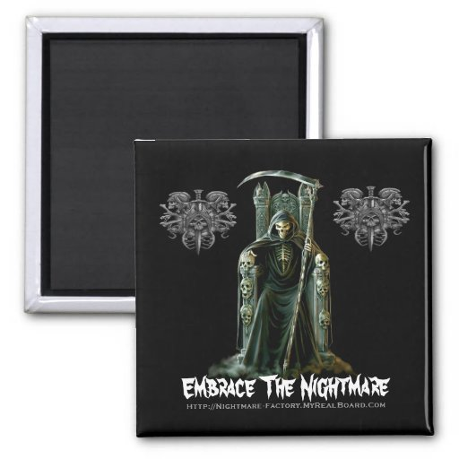 Embrace The Nightmare Maget 2 Inch Square Magnet