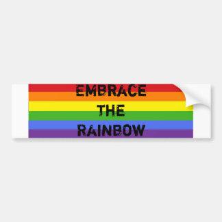 Embrace the Rainbow Bumper Sticker