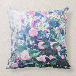 Embrace the roses throw pillow