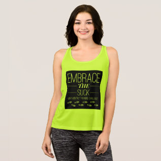 Embrace The Suck Running T-shirt at Zazzle