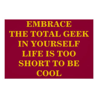 Embrace The Total Geek Poster