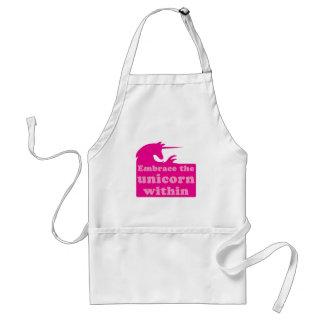 embrace the unicorn within adult apron