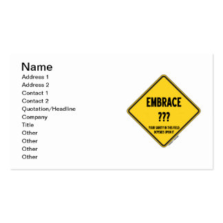 Embrace Uncertainty Your Sanity In This Field Sign Business Card
