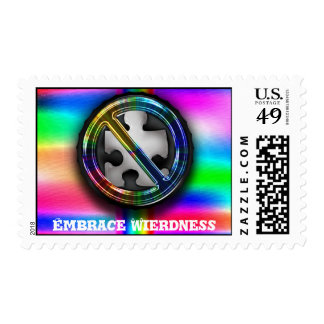 Embrace Wierdness Postage